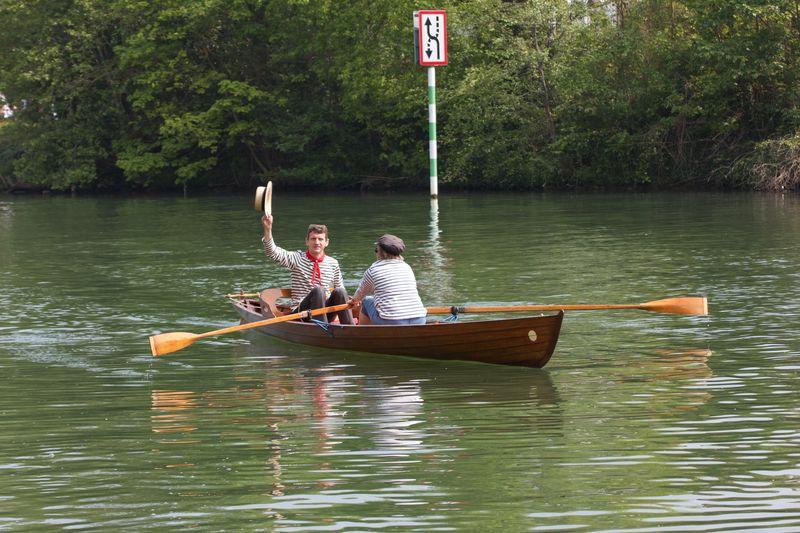 Loulou sur l'eau avec Frédéric et Joselyne