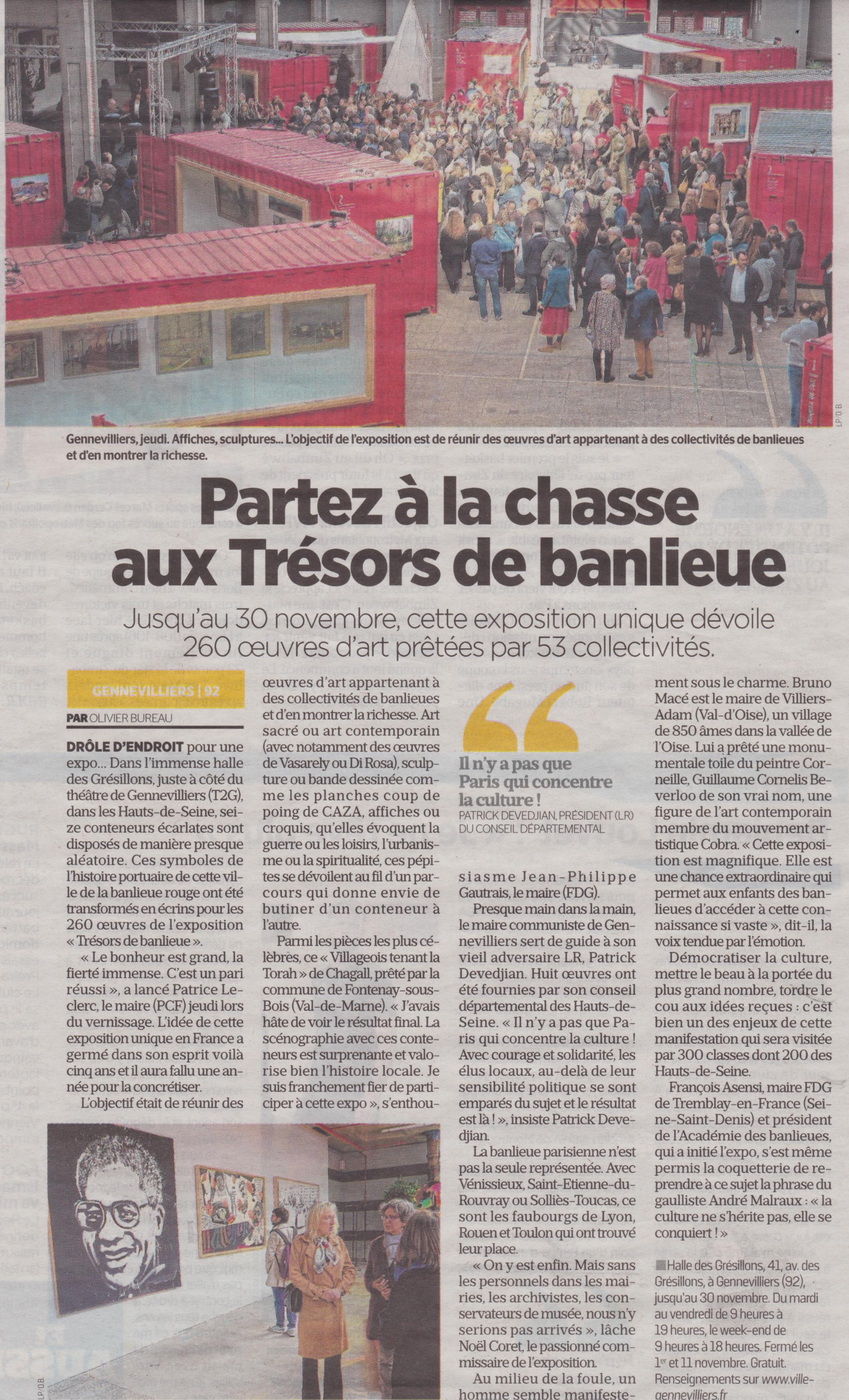 Le Parisien, 17 Le Parisien, 7 octobre 2019, Partez à la Chasse aux Trésors de Banlieue 2017, Mise à l'eau de Zambèze Sequana Chatou